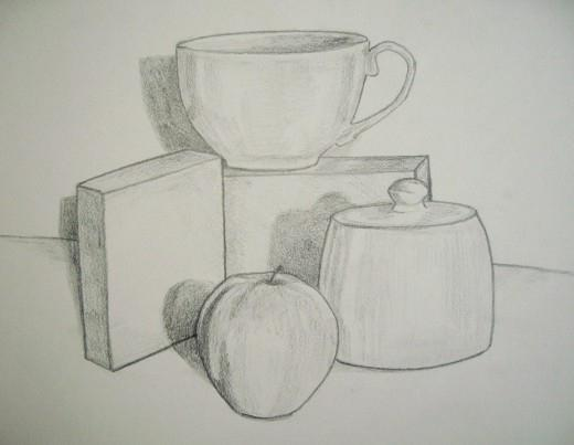 How to draw a still life in pencil in stages: a short instruction
